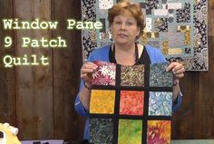"""SCROLL DOWN & FIND THE WORDS """"Next Page"""" to Watch the Tutorial """"Window Pane 9 Patch"""" Start with colors You Like from a charm pack. Use a single solid that contrasts with your colors. It could be any color you like & it doesn't have to be a solid but it should contrast with your …"""