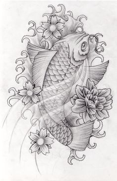 Black Koi Fish Tattoo Designs | Koi design 1 by arielferreyra