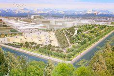 Exhibition Plate, Expo Landscape, Expo Milano 2015. Mediterranean Hill