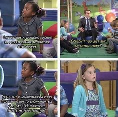 That last girl gets me every time.  She has just been enlightened.