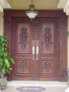 Pine Internal Doors - January 12 2019 at Wooden Double Doors, Door Gate Design, Wood Doors, Double Door Design, Wood Doors Interior, Pooja Room Door Design, Front Door Design
