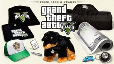 Enter the GTAV Gear & Collectibles Giveaway at the Rockstar Games page on Facebook.