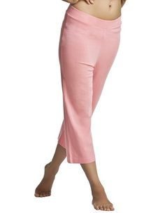 Organic Ladies Yoga Pants Swadhay -   50% Eucalyptus / 50% Organic Cotton Jersey 200 GSM.    Colour     : Coral