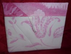 #Pink Flowered Hand Bag made from a pair of pajamas. Great Gift!!   7 1/2 by 6 1/2.   Great for cosmetics,camera etc.  Custom orders available  $10.00