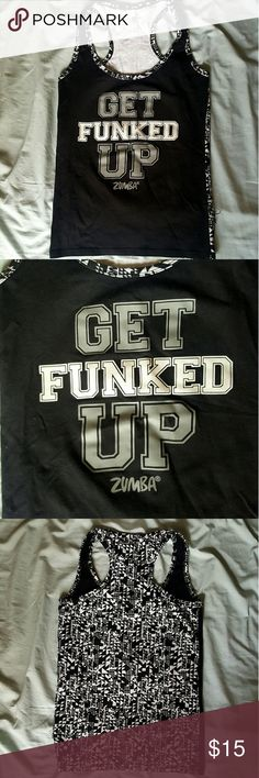 """Zumba Get Funked Up Shirt Fun Zumba shirt with """"Get Funked Up"""" print design in front. Great for workouts! Zumba Tops"""