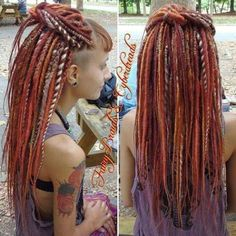 half up dreadlocks hairstyle