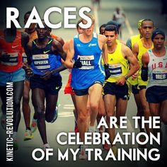 Running Matters #85: Races are the celebration of my training.