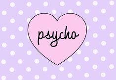love cute kawaii heart pink pastel lilac polka dots lavender pastel goth psycho