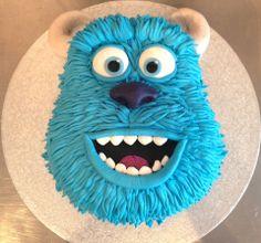 Disney Party Ideas: Monsters Inc. Monster University Cakes, Monster University Birthday, Monster Inc Cakes, Monster Inc Party, Monster Birthday Parties, Cookie Monster Party, Sully Cake, Sully Monsters Inc, Disney Monsters