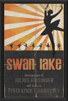 Swan Lake Framed Vintage Advertisement