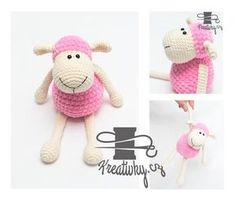 Háčkovaná ovečka Crochet Toys, Crochet Baby, Knit Crochet, Easy Knitting, Handmade Toys, Pet Toys, Crochet Projects, Diy And Crafts, Hello Kitty
