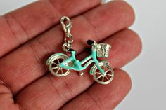 Bicycle charm - Travelers Notebook charm - purse charm - Midori Travelers Notebook charm by LeatherPlannersPlus on Etsy https://www.etsy.com/listing/542146705/bicycle-charm-travelers-notebook-charm