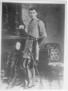 Temple Lea Houston as a cadet at Texas A after 1877 but before 1880. Learn more here http://samhoustonmemorialmuseum.com/history/children.html or read this fantastic article: http://www.texasescapes.com/CFEckhardt/Temple-Lea-Houston.htm