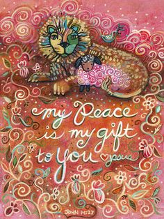 Catholic Wall Art - Painting - My Peace Is My Gift by Jen Norton Bible Verse Art, Prayer Verses, Prayer Book, Bible Scriptures, Catholic Art, Religious Art, Jesus Calms The Storm, Lion Of Judah, Christian Art