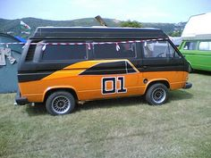 Just in case the Vanagon isn't fast enough you also have the General Lee....LOL