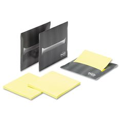 Gives you the notes you need, when—and where—you need them.  Post-it Laptop Notes Super Sticky Laptop Note Dispenser, 3 x 3, Gray, 3 per Pack
