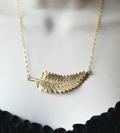 Gold Fern Pendant Necklace | This gold fern necklace is just the right charm for the nature... | Necklaces