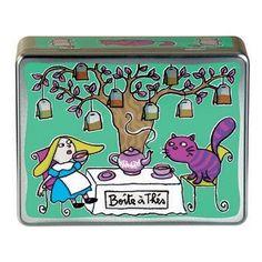 Boîte à thés (compartimentée) - Vert - Derrière la Porte - DLP - Accessoire cuisine et rangement/Boite à café, thé et cacao - espritlogis-fr...
