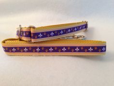 Fleur de Lis Dog Collar and Leash, Paw Print Dog Collar, Fleur de Lis Martingale Collar, Paw Print Leash by TiltheChowsComeHome on Etsy