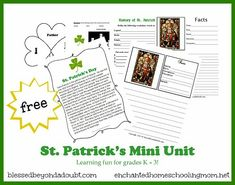 Free St. Patrick's Day Mini Unit
