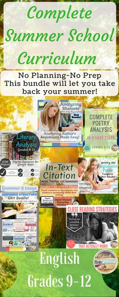 Complete English/ Language Arts Summer School Bundle for High School will provide you all of the lessons, materials, and activities to teach summer school- ZERO prep involved! From introduction activities and procedure slides (introduced using fun memes) to specific reading and writing strategies that have been the most beneficial to my struggling readers and writers. This unit is completely digital for use with Google Apps or Microsoft One Drive, and is also completely printable.
