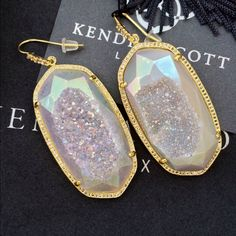 Kendra Scott Luxe Drusy Jamie (Danielle) I'm still not 100% sure I want to sell these because they are so amazing but I never wore them, I got them for my wedding but ended up wearing another pair instead. I'm not sure if I will get the chance to wear these but will let go for the right offer since I'd rather put the money towards a pair of shoes that will be worn more often. Lowball offers will be ignored. But these are amazing, one of a kind and definitely worth it. Kendra Scott Jewelry…
