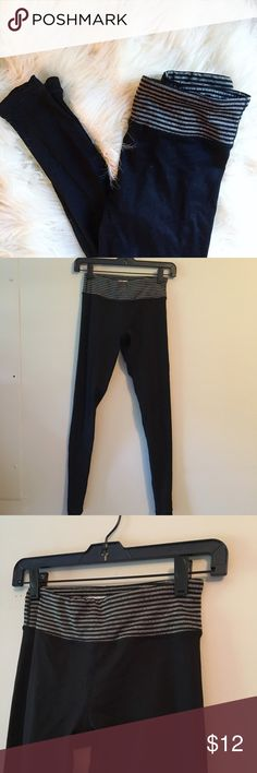 Active Wear: Black/Grey Legging Worn once perfect condition Forever 21 Pants Leggings