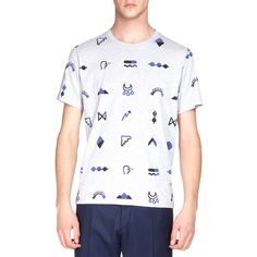 Kenzo Multi-Icon Short-Sleeve Graphic Tee ($185) ❤ liked on Polyvore