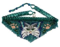Cat Butterfly Fringe Necklace : Beading Patterns and kits by Dragon!, The art of beading. Fringe Necklace, Seed Bead Necklace, Seed Beads, Bracelet Patterns, Beading Patterns, Beading Ideas, Beaded Choker, Beaded Jewelry, Beaded Animals
