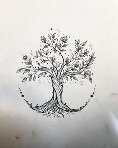 - Tree Tattoo - Gefällt 60 Mal, 3 Kommentare - Elisa Treg ॐ Tattoo ( Tree Tattoo - 60 Times, 3 Comments - Elisa Treg Tattoo ( o. Flower Tattoo Drawings, Small Flower Tattoos, Tattoo Sketches, Small Tattoos, Drawing Tattoos, Art Sketches, Drawing Drawing, Drawing Tips, Tattoo Flowers