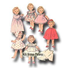 The special feature of the Kissy doll was that when you squeezed her hands together she would pucker and make a kissing noise. I have several patterns available for the Kissy Doll This pattern was originally created in Jan Doll Dress Patterns, Clothing Patterns, Pattern Dress, Sewing Patterns, Baby Doll Clothes, Baby Dolls, Disney Animator Doll, Pajama Pattern, Smart Doll