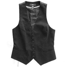 ⚡️FLASH SALE⚡️Black button up vest Black pinstripe vest from H&M. Button up front is fully lined. Small buckle in back to adjust fit. Can be worn over any top you like, or even worn by itself! A great versatile piece to add to your wardrobe!  H&M Jackets & Coats Vests