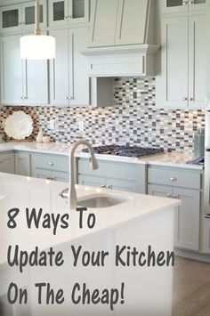 We spend so much time in the kitchen, that it's usually the first place we want to fix up to add value to our homes. Here are some good ways to have your kitchen feel the way you want it to, withou... http://makingdiyfun.com/8-ways-to-update-your-kitchen-on-a-budget/