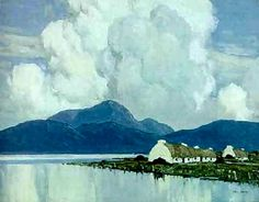"Paul Henry (1877-1958) was an Irish artist noted for depicting the West of Ireland landscape in a spare post-impressionist style. Paul Henry was born in Belfast, Ireland, the son of a Baptist minister. (Wikipedia) (""Connemara"" by Paul Henry)"