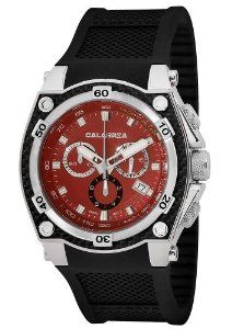CALABRIA - Race Inspired Red Chronograph Mens Watch