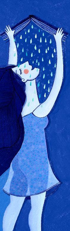 mujer que lee la lluvia 1