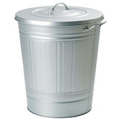 KNODD Bin with lid - galvanized, 11 gallon - IKEA