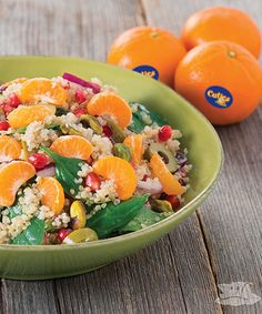 Quinoa Cuties® Clementine Salad recipe - This zesty salad can be teamed with a grilled chicken breast, fish fillet or protein rich chickpeas for a complete meal.  #Recipe #Salad #Quinoa
