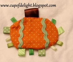 Pumpkin Taggie For Baby