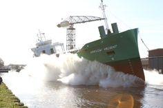 Stapelloop 1 april 2016 van het derde schip in een serie van tien schepen  ARKLOW VALIANT http://koopvaardij.blogspot.nl/2016/04/stapelloop.html