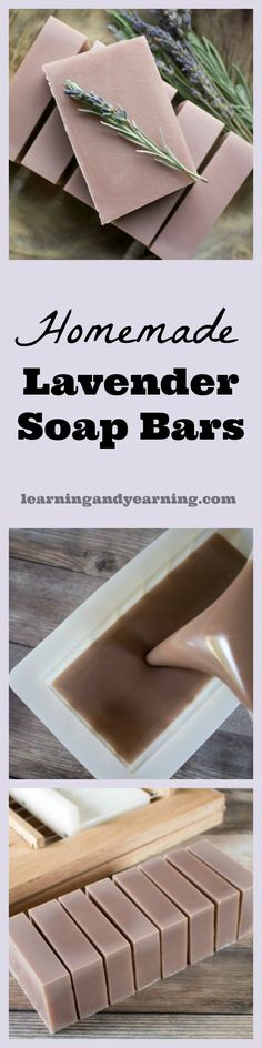 If you're looking for an amazing soap that will relax you after a stressful day, homemade lavender soap bars are for you. So perfect for gift giving, too! Diy Lotion, Lotion Bars, Homemade Beauty, Diy Beauty, Beauty Stuff, Homemade Soap Recipes, Homemade Candles, Lavender Soap, Goat Milk Soap