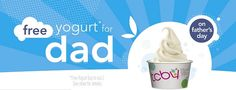 FREE Yogurt for Dad on Father's Day!