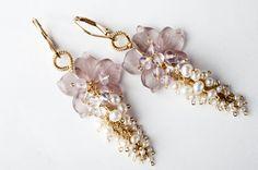 Sample Sale 50% Off  Gaia Earrings: Floral by GukiKhalsaJewelry