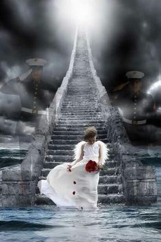 Marines guarding the entrance to heaven