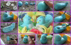 How to make a cute little fondant bird