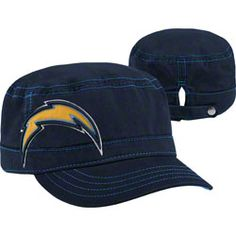 San Diego Chargers Women's New Era Military Chic Cadet Hat