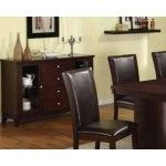 Poundex Furniture - Brown Faux Leather Server - F6060