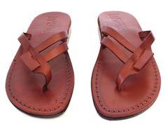 New Arrival - Leather Sandals RACHEL Women's Shoes Thongs Flip Flops Flats Slides Slippers by Sandalimshop on Etsy