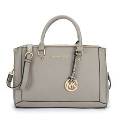 You Never Met The Famous Michael Kors Logo Large Grey Satchels Like That In Here! #MichaelKorsBags