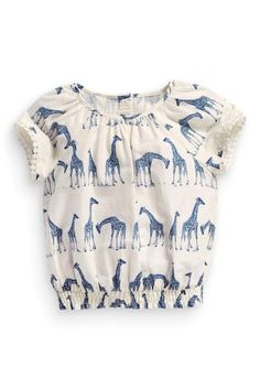 Buy Giraffe Printed Blouse (3mths-6yrs) online today at Next: United States of America